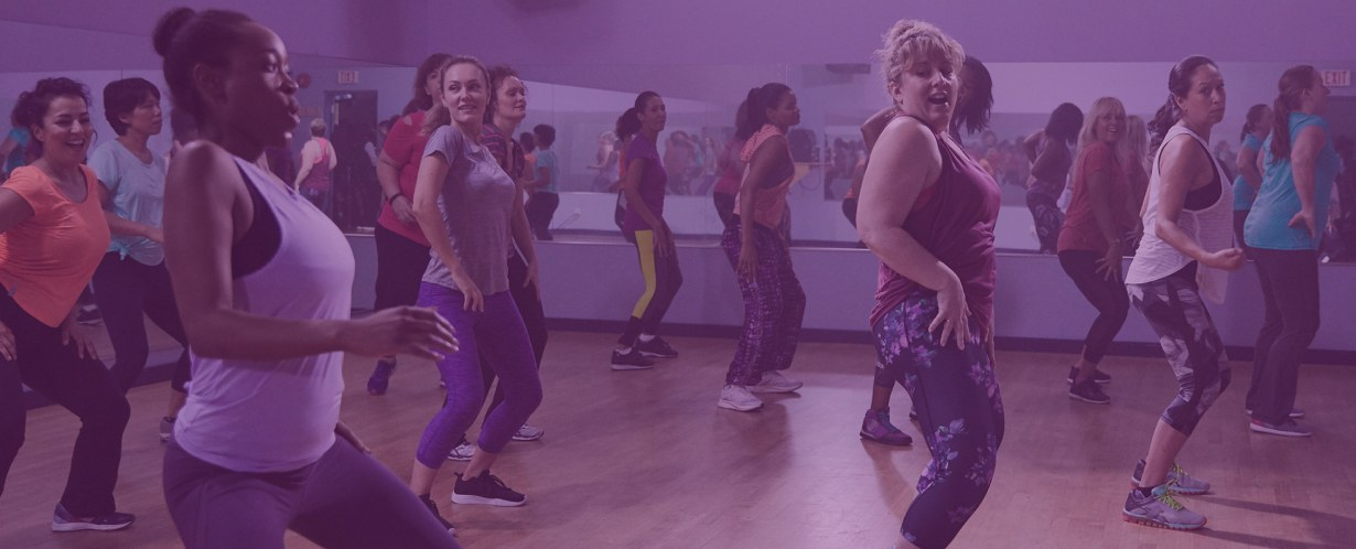Women exercising in a dance workout