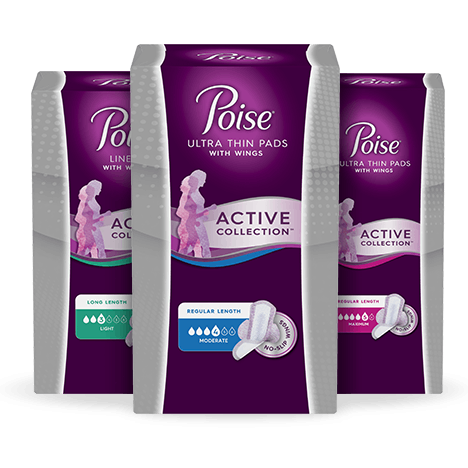 Poise® Active Collection® products